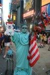 Lady Liberty is a Saints fan!