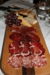 Crush salami and cheese plate