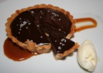 Crush salted chocolate tart